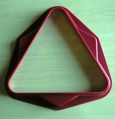 Pool Triangle 2 Inches UK Size 15 Ball RED