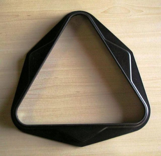 Pool Triangle 2 Inches UK Size 15 Ball BLACK
