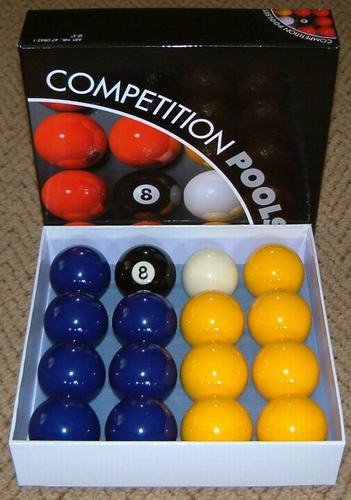 Pool Ball Set Blue and Yellow UK Ball Set