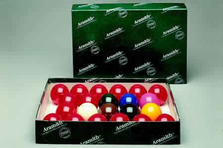 Aramith Snooker Ball Set - 2 1-16 Inches Balls