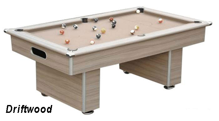 Gatley Classic Slimline Driftwood Slate Bed Pool Table