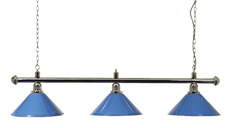 Pool Lighting Set Chrome Canopy Bar, Blue Shades