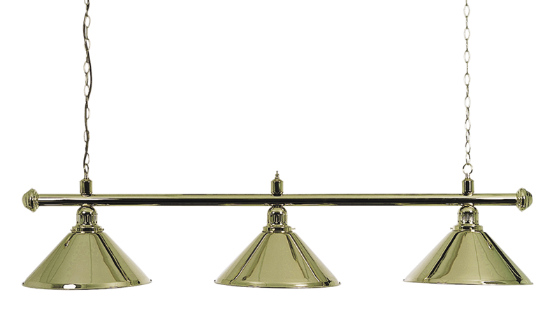 Pool Table Lighting Brass Canopy Bar & Shades