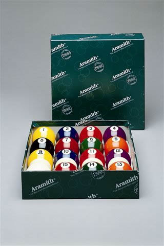 Aramith Pool Balls UK Spots and Stripes Set