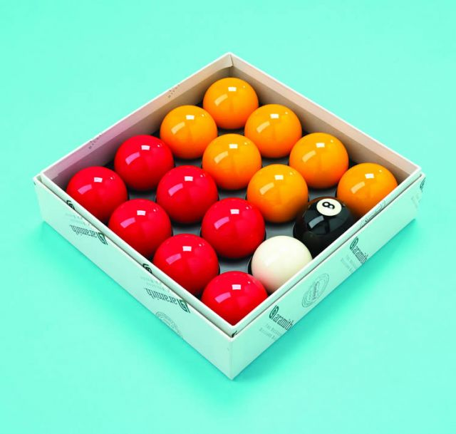 Aramith UK 2 Inch Red and Yellow Ball Set