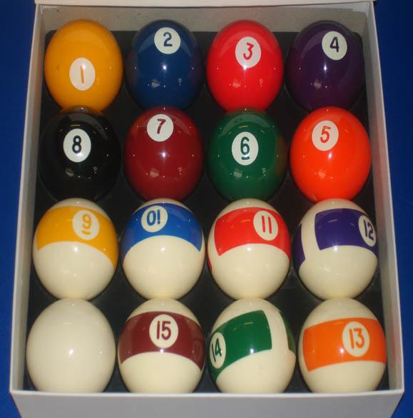 Aramith Balls Spots and Stripes Continental