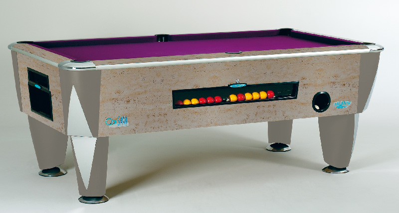 SAM Coin Operated Pool Table Silver Sunrise