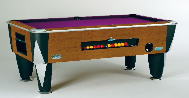 SAM Coin Operated Pool Table Atlantic Gold