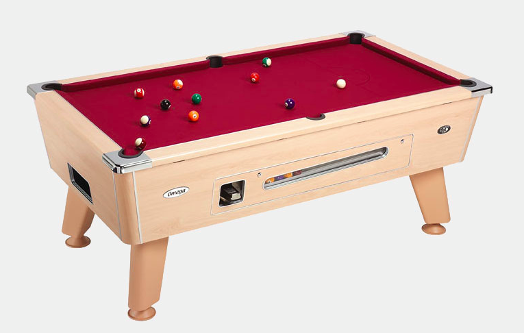 Omega Coin Operated 6ft or 7ft Pub Pool Table