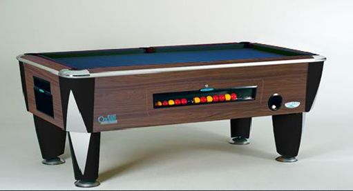 SAM Coin Operated Pool Table Atlantic Oak