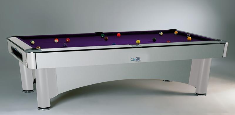 Sam American Pool Tables K Steel 8ft, 9ft