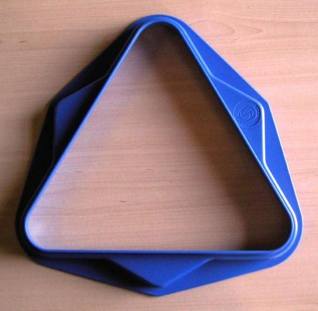Pool Ball Triangle 2 Inches UK Size 15 Ball Blue