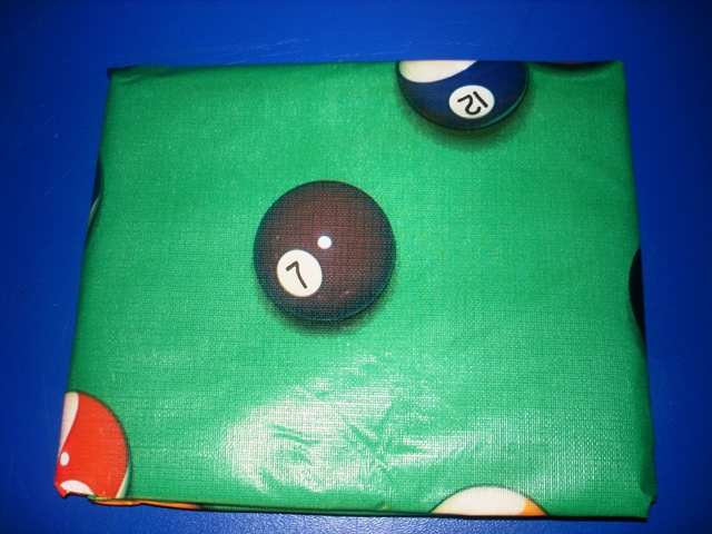 Pool Table Cover Ball Design Green 7ft Size