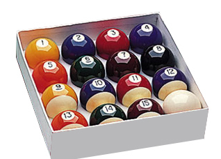 Pool Balls Spots and Stripes 2 Inch UK Set