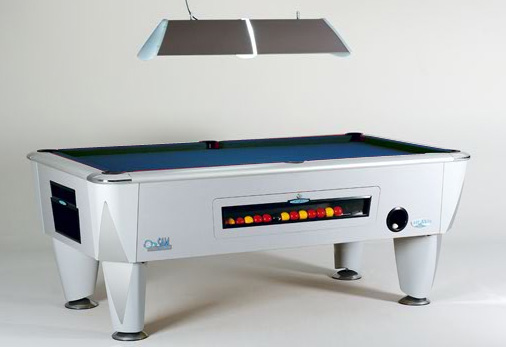 SAM Coin Operated Pool Table Atlantic Silver